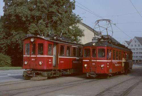 FW Triebwagen in Frauenfeld Stadt Fahrleitung Kindheitserinnerungen